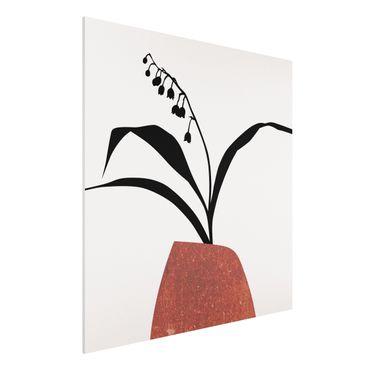 Stampa su Forex - Mondo vegetale grafico - Mughetto - Quadrato 1:1