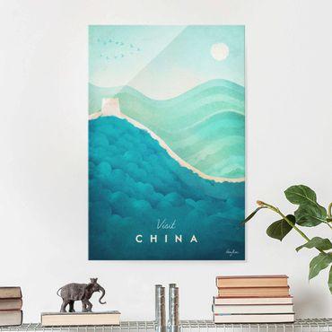 Quadro in vetro - Poster di viaggio - Cina - Verticale 3:2