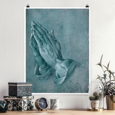 Poster - Albrecht Dürer - Studio di mani in preghiera - Verticale 4:3