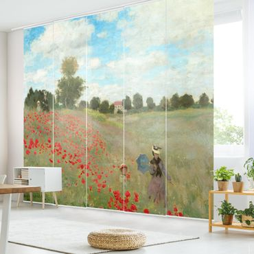Tende scorrevoli set - Claude Monet - Campo di papaveri A Argenteuil - 5 Pannelli