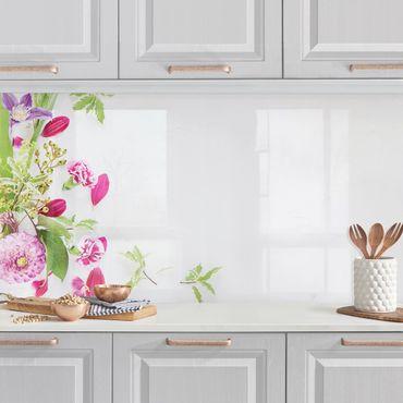 Rivestimento cucina - Composizione Floreale