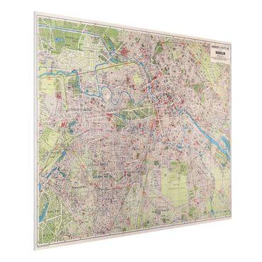 Stampa su Forex - Vintage Mappa Berlino - Orizzontale 3:4