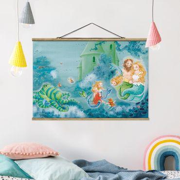 Foto su tessuto da parete con bastone - Il Sea Horse è permesso di rimanere - Orizzontale 2:3