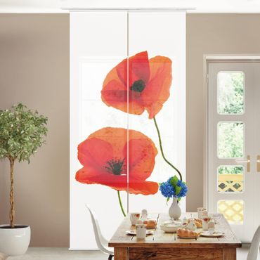 Tende scorrevoli set - Charming Poppies