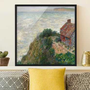 Poster con cornice - Claude Monet - Fisherman's House Petit Ailly - Quadrato 1:1