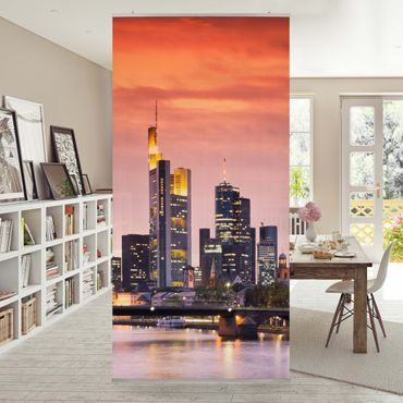 Tenda a pannello Frankfurt skyline 250x120cm