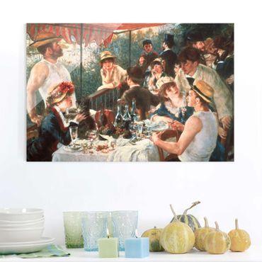 Quadro in vetro - Auguste Renoir - La colazione dei canottieri - Orizzontale 2:3