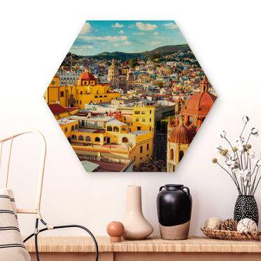 Esagono in legno - Case colorate Guanajuato