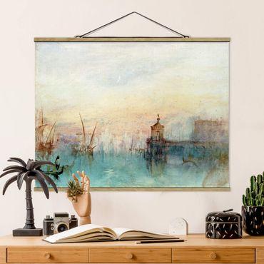 Foto su tessuto da parete con bastone - William Turner - Venezia con la luna - Orizzontale 3:4