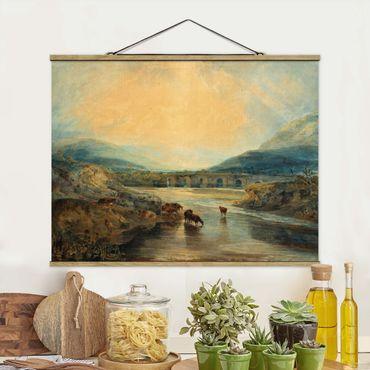 Foto su tessuto da parete con bastone - William Turner - Clearing Up - Orizzontale 3:4