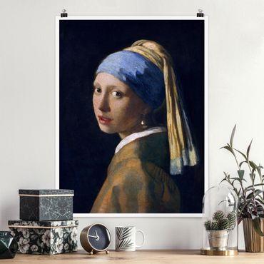 Poster - Jan Vermeer van Delft - Ragazza con l'orecchino di perla - Verticale 4:3