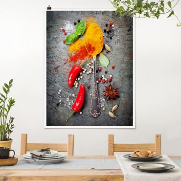Poster - Cucchiai con spezie - Verticale 4:3
