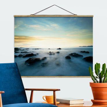 Foto su tessuto da parete con bastone - Tramonto sul mare - Orizzontale 3:4