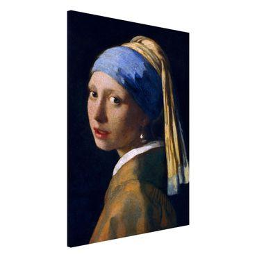 Lavagna magnetica - Jan Vermeer van Delft - Ragazza con l'orecchino di perla - Formato verticale 2:3