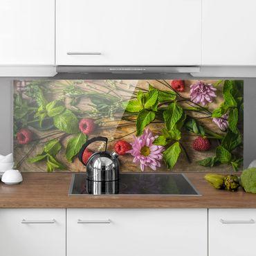 Paraschizzi in vetro - Flowers Raspberry Mint