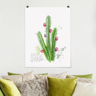 Poster - Cactus Con Bibellvers II - Verticale 4:3