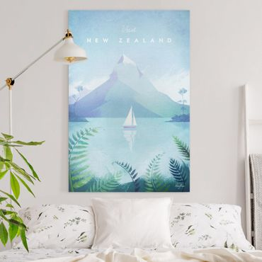 Stampa su tela - Poster Viaggi - Nuova Zelanda - Verticale 3:2