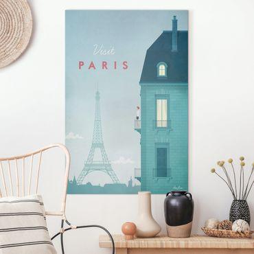 Stampa su tela - Poster Viaggio - Parigi - Verticale 3:2