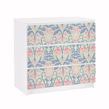 Carta adesiva per mobili IKEA - Malm Cassettiera 3xCassetti - Linen damask ornament