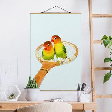 Foto su tessuto da parete con bastone - Tennis Con Uccelli - Verticale 3:2