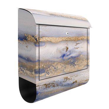 Cassetta postale - Esperimenti colorati di marmo oro e blu