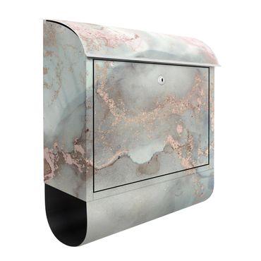 Cassetta postale - Esperimenti di colore marmo pastello e oro