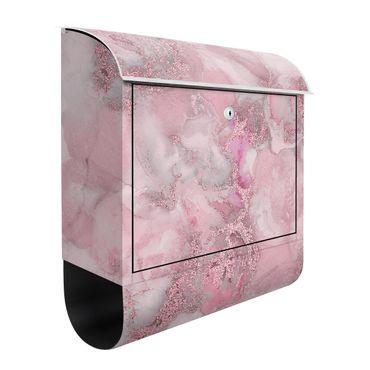 Cassetta postale - Esperimenti di colore marmo rosa e brillantini