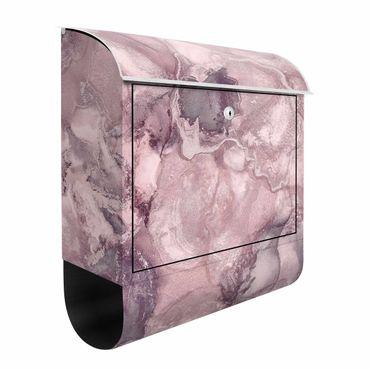 Cassetta postale - Esperimenti di colore marmo violetto