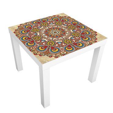 Tavolino design Farbiges Mandala