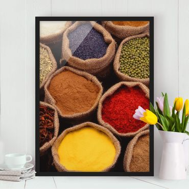 Poster con cornice - Colorful Spices - Verticale 4:3
