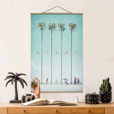 Foto su tessuto da parete con bastone - Poster viaggio - Miami - Verticale 3:2