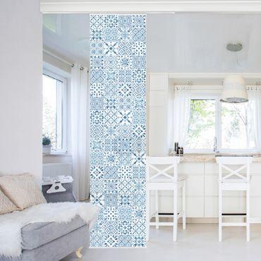 Tende scorrevoli set - Tile Pattern Blue White