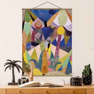 Foto su tessuto da parete con bastone - Paul Klee - Lieve Paesaggio tropicale - Verticale 4:3