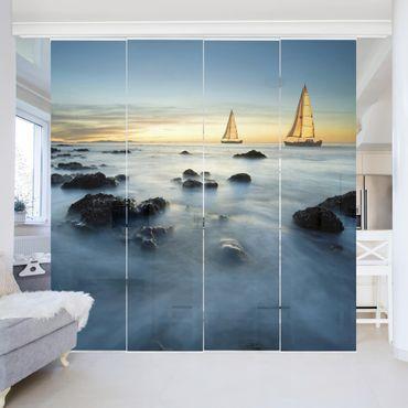 Tende scorrevoli set - Sailboats In The Ocean