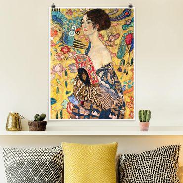 Poster - Gustav Klimt - Donna con ventaglio - Verticale 4:3