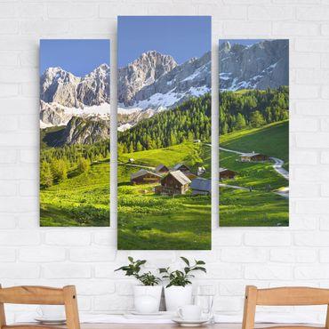 Stampa su tela 3 parti - Styria Alpine Meadow - Trittico da galleria