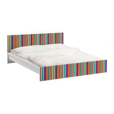 Carta adesiva per mobili IKEA - Malm Letto basso 160x200cm Happy Stripes