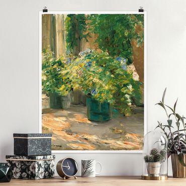 Poster - Max Liebermann - Vaso da fiori in davanti alla casa - Verticale 4:3