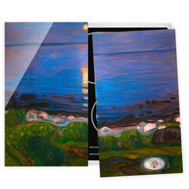 Coprifornelli in vetro - Edvard Munch - Summer Night On The Sea Beach - 52x60cm