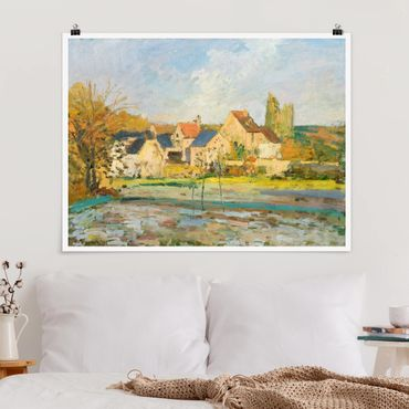 Poster - Camille Pissarro - Campagna a Pontoise - Orizzontale 3:4