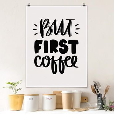 Poster - Ma primo caffè - Verticale 4:3
