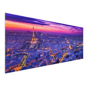 Quadro in forex - Parigi di notte - Panoramico