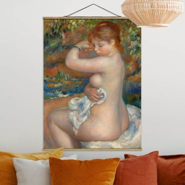 Foto su tessuto da parete con bastone - Auguste Renoir - Bagnanti - Verticale 4:3