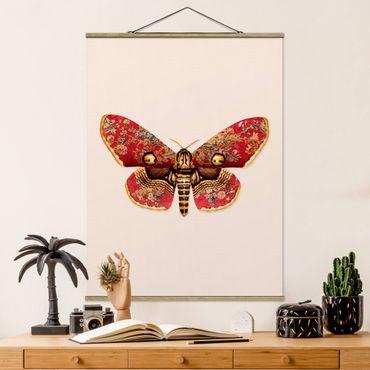 Foto su tessuto da parete con bastone - Vintage Moth - Verticale 4:3