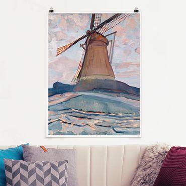 Poster - Piet Mondrian - Windmill - Verticale 4:3