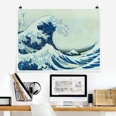 Poster - Katsushika Hokusai - La grande onda a Kanagawa - Orizzontale 3:4