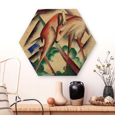 Esagono in legno - Franz Marc - Cervi