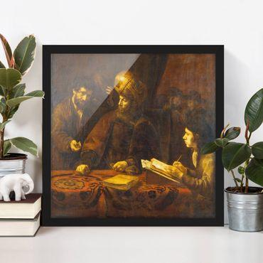 Poster con cornice - Rembrandt Van Rijn - Parable Of Workers - Quadrato 1:1