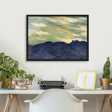 Poster con cornice - Claude Monet - Rock Sunset - Orizzontale 3:4
