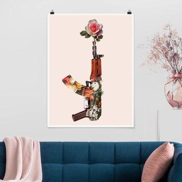 Poster - Arma con Rosa - Verticale 4:3